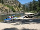 A rafting campsite on the Main Salmon River, Idaho