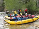 Rafts on a spring Middle Fork rafting trip