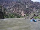 Rafts running the Middle Fork of the Salmon at high water